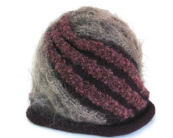 vintage wool chunky hat   ...     hand knit warm and soft