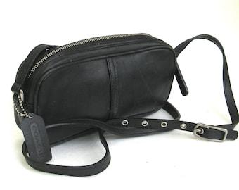 vintage coach black leather bag   ...   classic