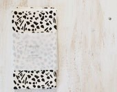 Sumi Dots -fat quarter - precut cotton canvas fabric -