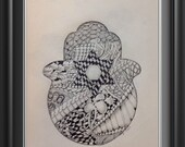 Hamsa Zentangle Inspired Art