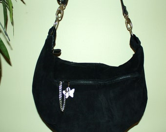 Hand Crafted  Maggiebags Original Design.upcycled Leather HoBo Bag-  Spring Sale.