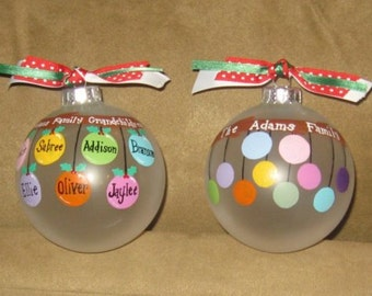 9-12 name Personalized Family Ornament