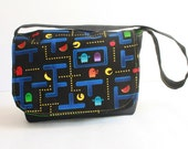 SHOP SALE**Pac Man Mini Messenger-kids messenger bag-  Kids purse