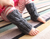 Hand knit baby/toddler legwarmers