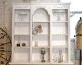 Painted Cottage Shabby White Farmhouse China Cabinet/ Bookcase CC621