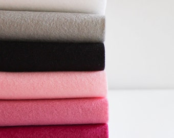 "Glamour - 6 Wool Blend Felt Colors - Half Yard of each color - 18"" x 36"""