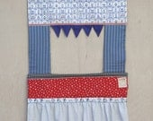 Doorway Puppet Theatre - Dutch and Vintage Fabrics - Fabric Puppet Theater