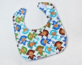 Baby Boy Bib Infant Bibs Baby Shower Gift Flannel Dribble Cute Animal Monkey Baby Gift New Mom