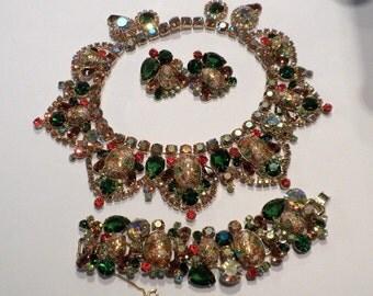 Juliana Easter Egg Bib Necklace Bracelet Earrings Amazing DeLizza Elster Design