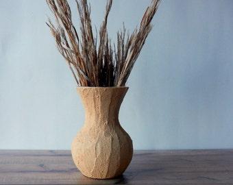 Golden Peach Sweetheart Vase / Spring home decor / Mustard Yellow Vase / Flower vase