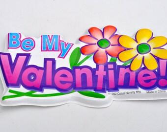 Valentines Day Cake Topper Plastic Be My Valentine