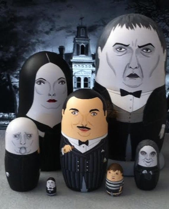 The Addams Family Matryoshka Dolls