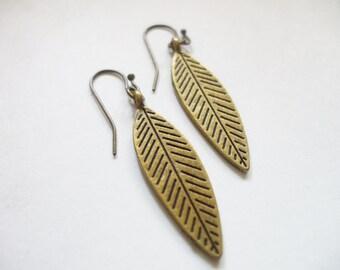 Dangle Earrings, Free Spirit Drop Brass Earrings, Super Cute Tribal Lightweight Dangle Earrings Lead Free Nickel Free Earrings