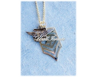Airforce Necklace /Handmade by Me/Gifts for Her