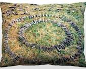 Decorative Nature Pillow - Pinecone Mandala