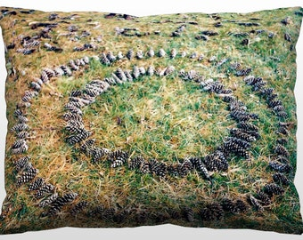 Decorative Nature Pillow - Pinecone Mandala