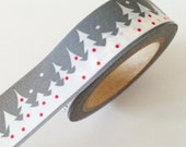Winter Wonderland Washi Tape Gray White Red Snow Masking Tape Christmas Decoration Pretty Christmas Washi Tape
