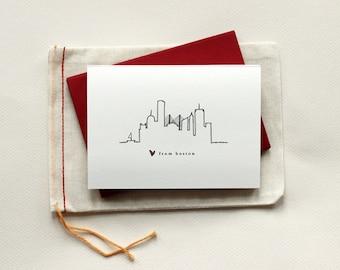 Love from Boston: Skyline Notecard Set