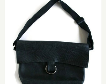 HOLIDAYSALE Eco Tammy Messenger Bag - Recycled Rubber Book Bag