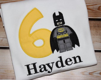 Personalized Birthday Shirt Number with Batboy