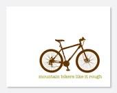 Mountain Bikers Like It Rough Greeting Card