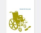 Wheelchair Push Thank You Warrior/Cancer Card