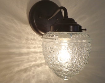 SCONCE Light Fixture ISLAND FALLS Glass Lighting Wall Sconce Mount by LampGoods