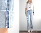 Levis 501 Redline Jeans Boyfriend Jeans Distressed Jeans Vintage Denim Vintage levi High Waist Womens 501 Red Line boyfriend jeans waist 28