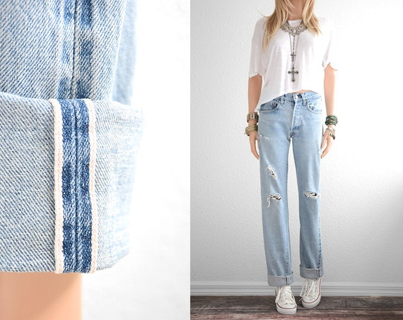 Levis 501 Redline Jeans Boyfriend Jeans Distressed Jeans