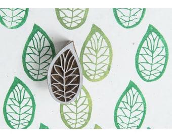 Small Leaf Stamp • Leaf Wood Block Stamp • Leaf Wood Stamp • Leaf Blockwallah Block Stamp (A012)