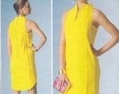 Vogue American Designer Pamella Roland Pattern V1445 Sleeveless Dress with Seaming Detail, Exposed Back Zipper, Shaped Hemline Misses 6 - 14