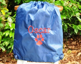 Embroidered Cinch Pack or Backpack - FREE MONOGRAMMING and one additional image
