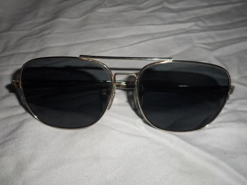 Mens Wire Frame Glasses : Vintage Mens Wire Frame Sunglasses 1980s
