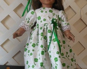Fun St. Patrick's Day dress for American Girl or other 18 inch doll