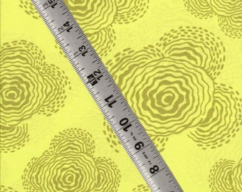OOP Amy Butler Midwest Modern Floating Buds Sage Cotton Quilting Fabric -- 1 yard
