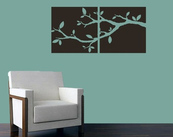 Tree Branch Cutout Squares - Trees and Branches Wall Decals