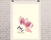 "Botanical Print, Tulip Print, Botanical Art, Marsala Print, Marsala Tulip - ""Cuddling Tulips"" Botanical Prints"