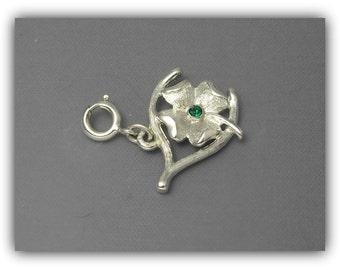 Monet Four Leaf Clover Charm, Monet Wish Bone Charm, Lucky Charm, St. Patrick's Day Jewelry, Good Luck Charm