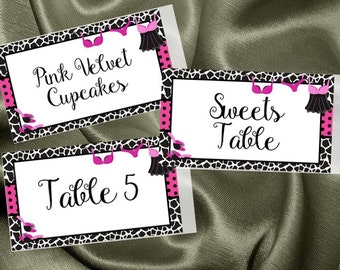 Personalized Food Label Stickers, Name Tags, Favor Stickers, Animal Print, Sexy, Bridal or Lingerie Shower, Bachelorette Party