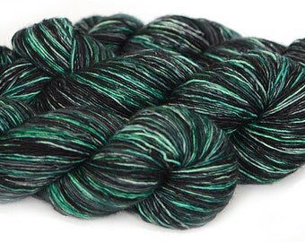 Single Ply silk merino sock yarn - Kettle Dyed - 100g