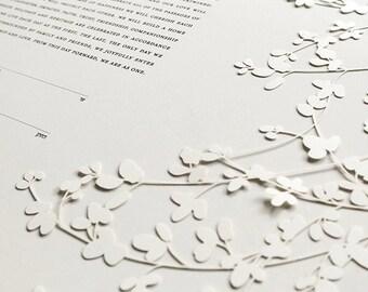 Ketubah Papercut by Jennifer Raichman - Sprigs