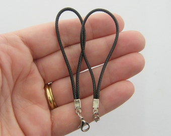 5 Black bracelets 85mm 73mm