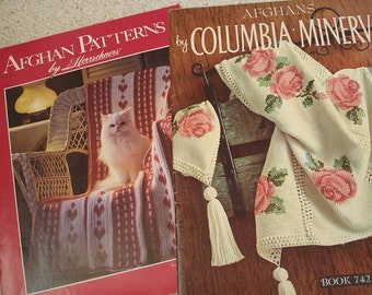 Two Afghan Collections - Vintage Patterns from Columbia-Minerva and Herrschners