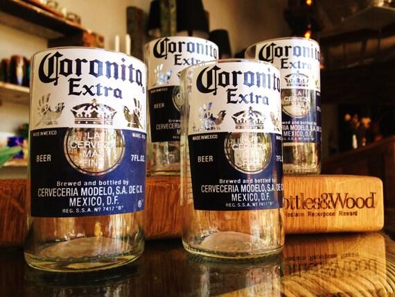 Coronita/Corona Juice Drinking Glasses - Upcycled - Set of 4