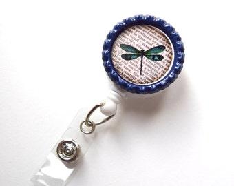 Dragonfly - ID Badge Holder - ID Badge Reel - Name Tag Badge - Cute ID Badge Reel - Teacher Badge Clip - Nurse Badge Reel - Fun Badge