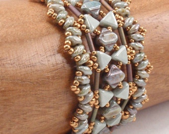 Instructions for Serac Bracelet  Beading tutorial