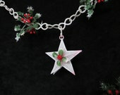 Vintage Plastic Garland with Stars / Yuletide Collectibles / Window Garland
