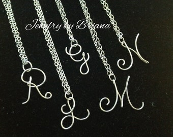 Initial Necklace Sterling Silver *SALE*