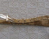 Vintage Belt Gold Tone Mesh Whiting & Davis