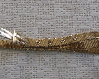 Vintage Belt Gold Tone Mesh Whiting & Davis